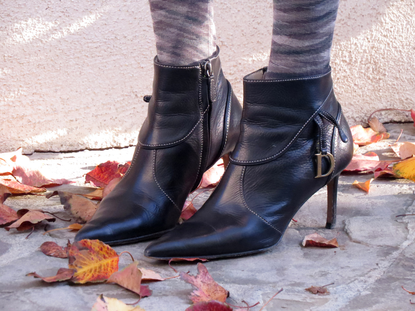 Dior pointed toe booties, currently crushing