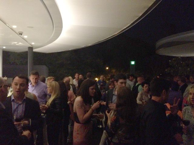 crowd at reception