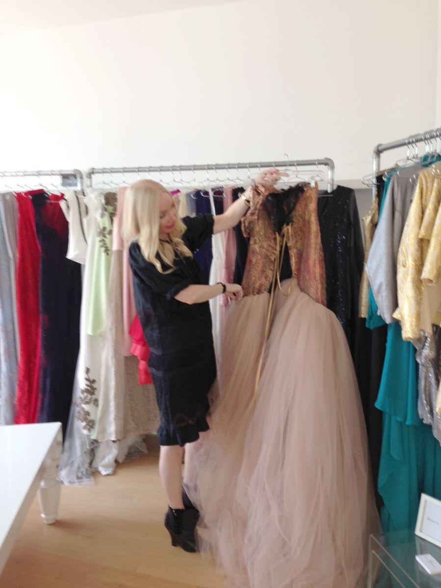 adolfo sanchez, couture gown