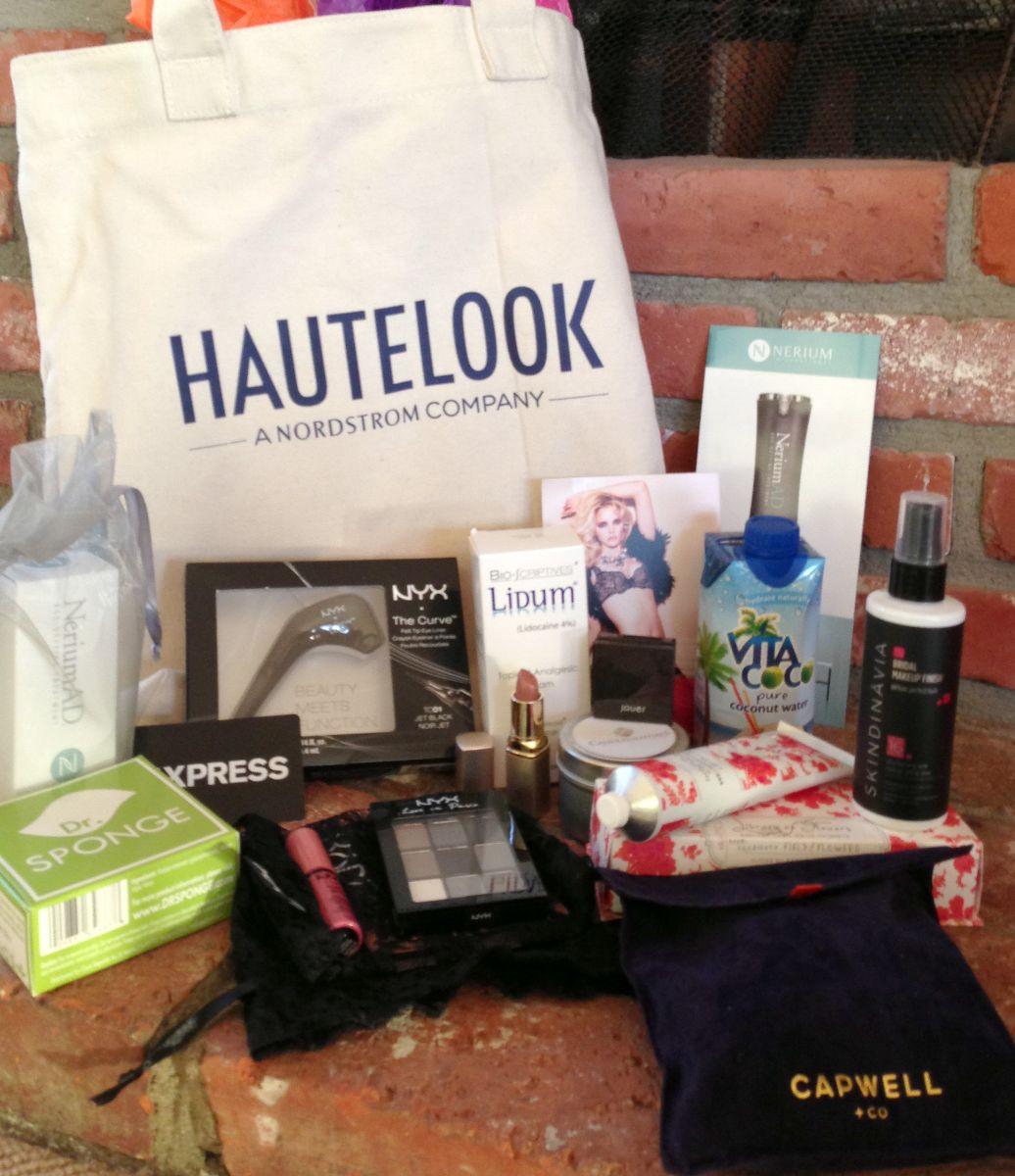 swag bag, goodie bag simply stylist, hautelook