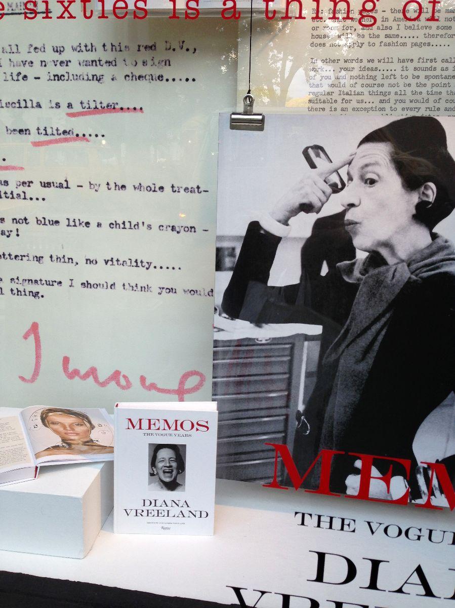 Diana Vreeland, Memos, bergdorf