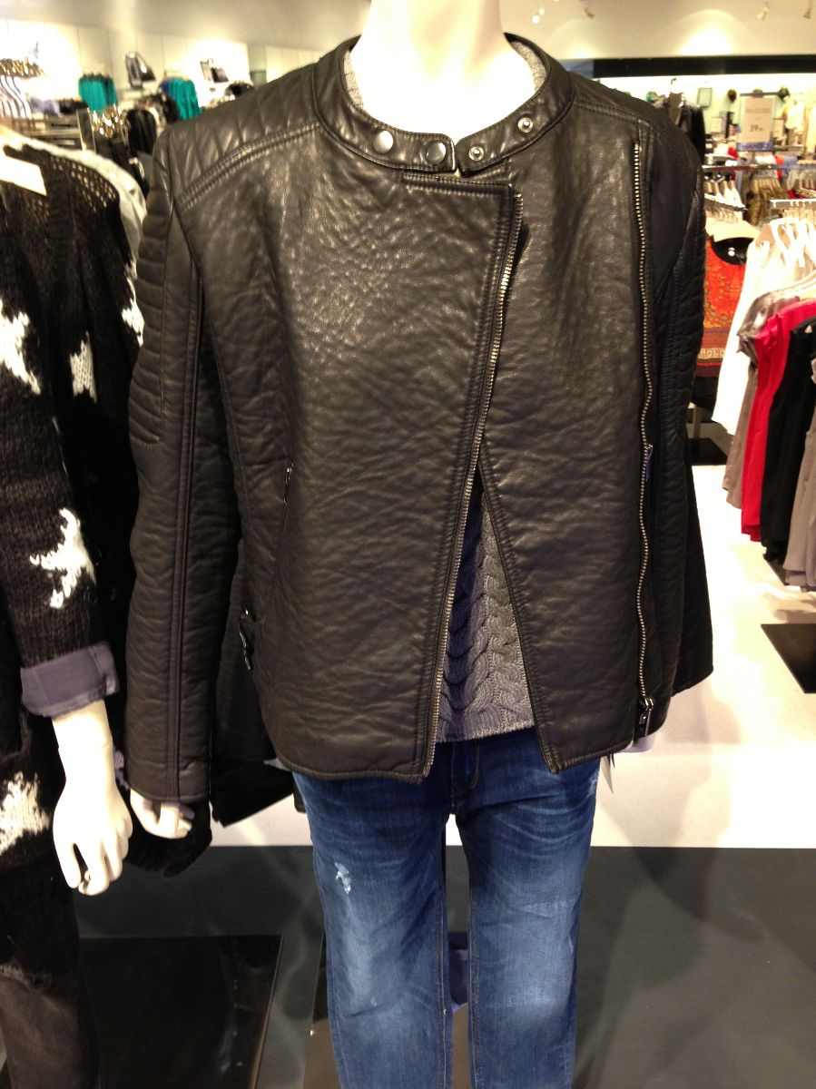 mango leather jacket, mng by mango jacket, mango santa monica