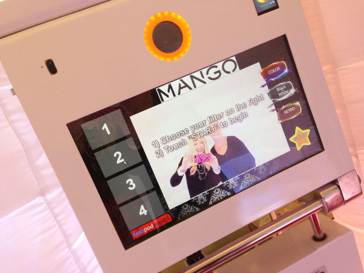 mango photo booth, santa monica mango