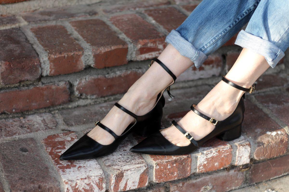 zara pointed toe ballerina flats, zara strappy flats, zara pointed toe flats