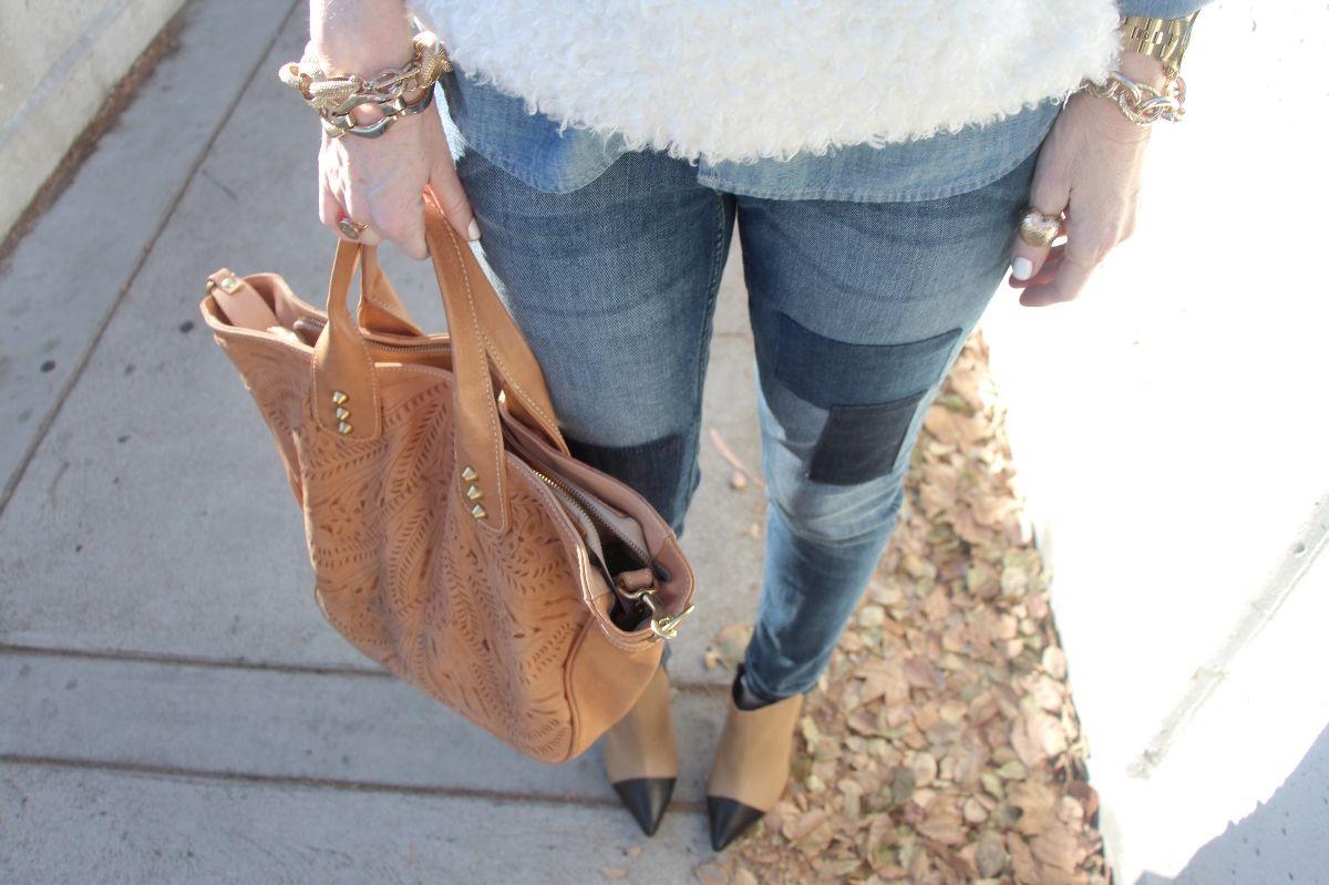 vania and david, shoemint jane booties, h&m jeans, kristixoxo