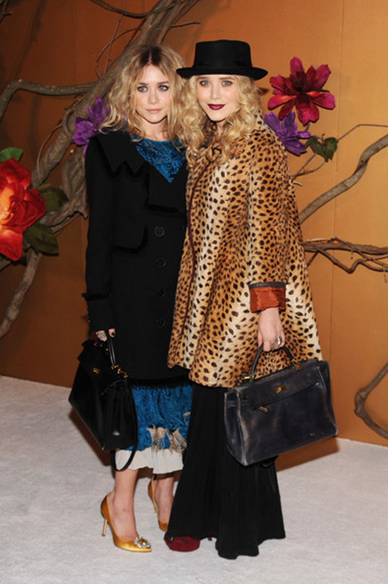 mary kate olsen, ashley olsen, leopard coat, currently crushing