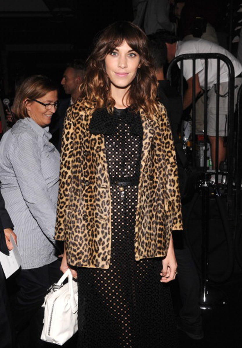 alexa chung, leopard coat, currently crushing