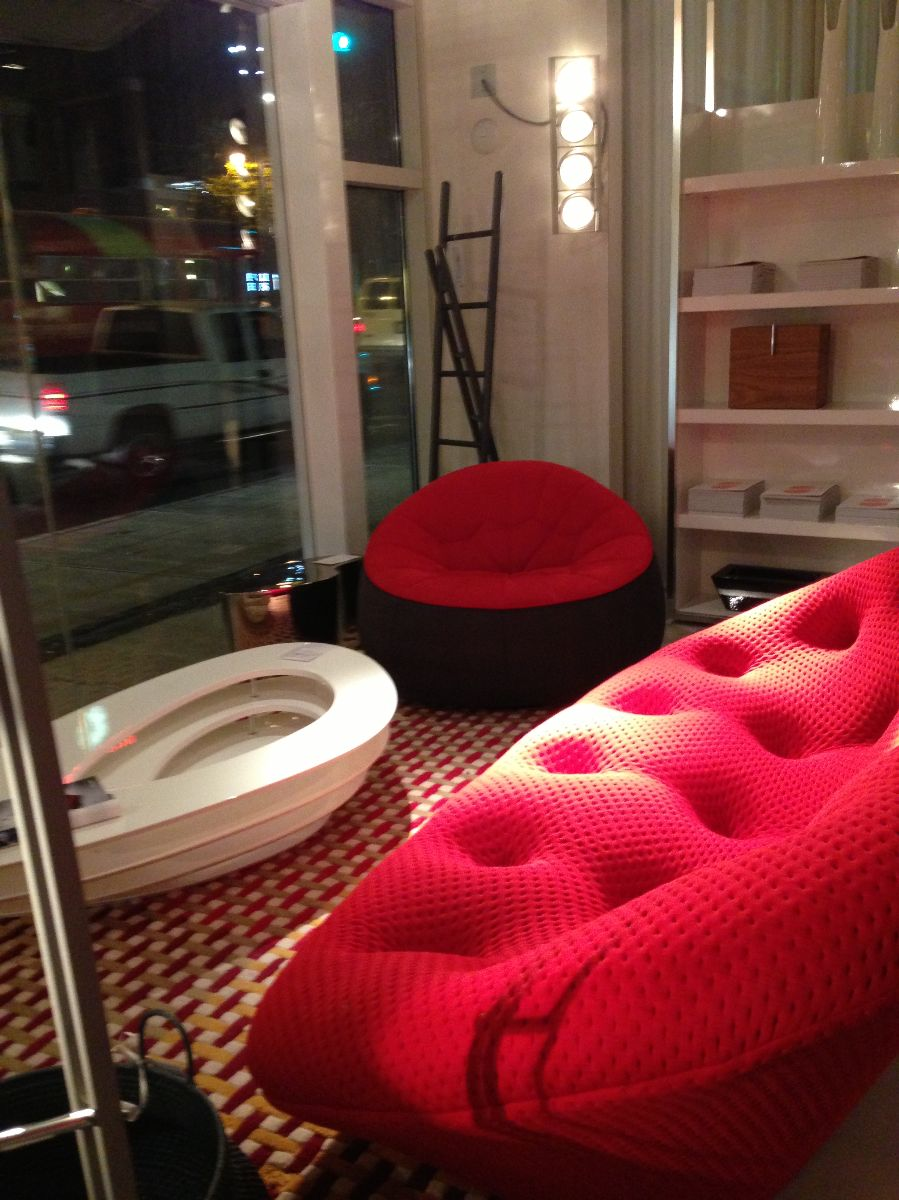 red couch, ligne roset san francisco,