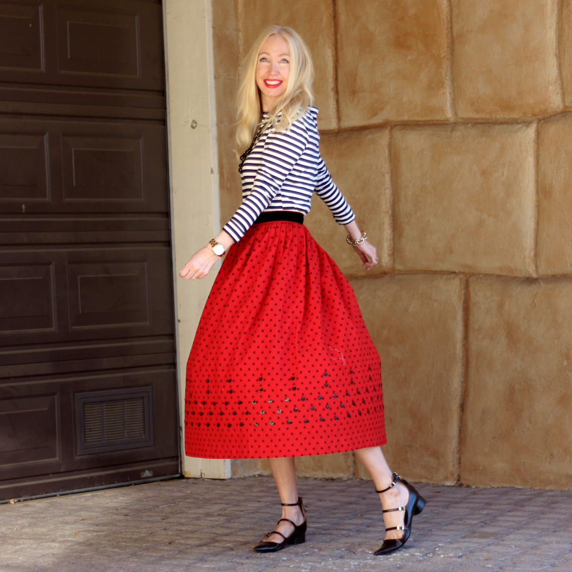 zara pointed toe flats, vintage midi skirt, currently crushing