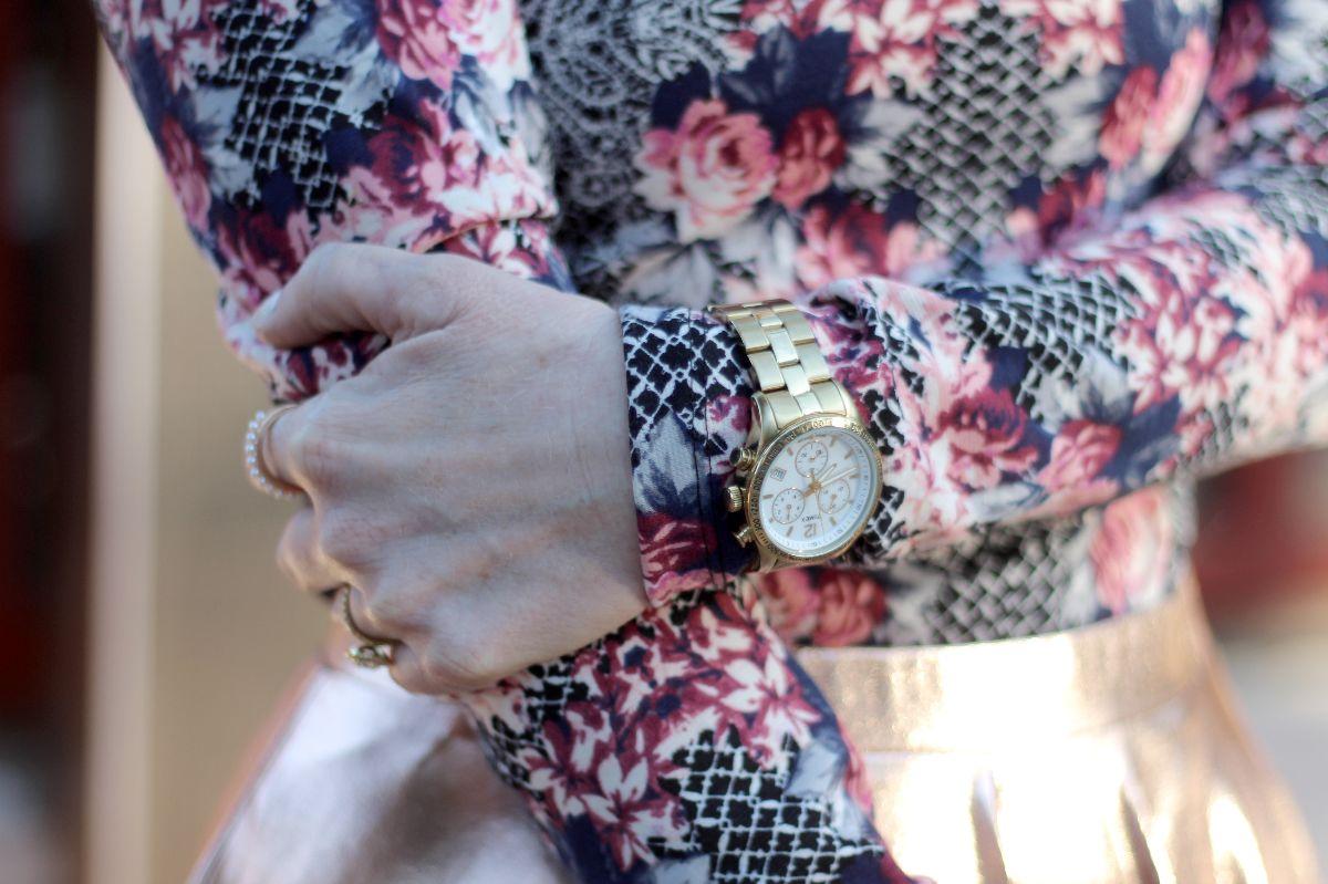 timex ladies dress chronograph gold
