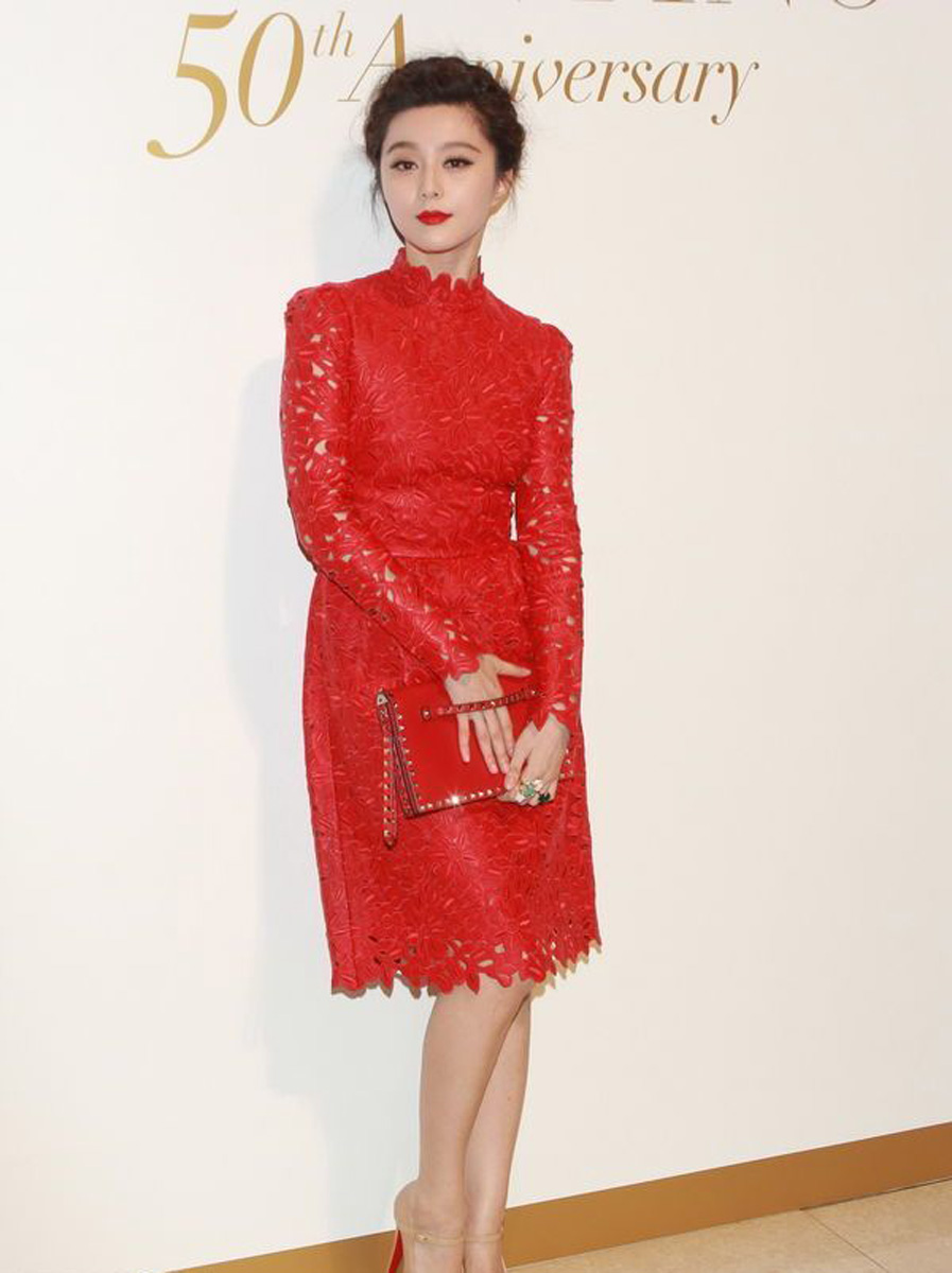 Fan Bingbing red carpet, Fan Bingbing red dress, currently crushing