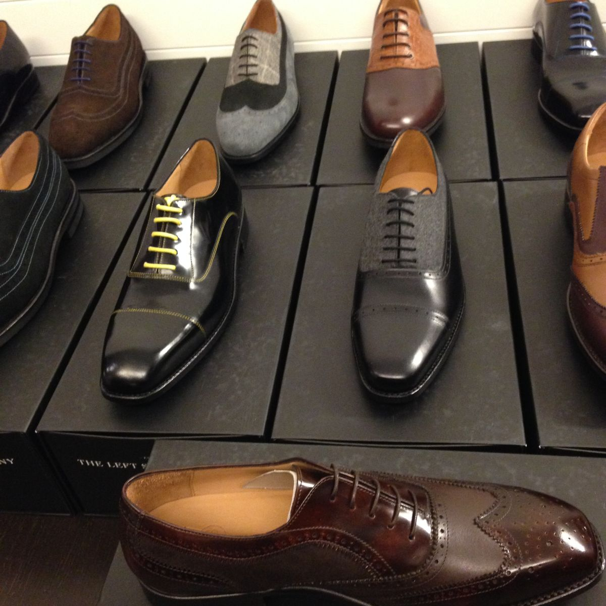 Mens shoes, the left shoe company, currently crushing