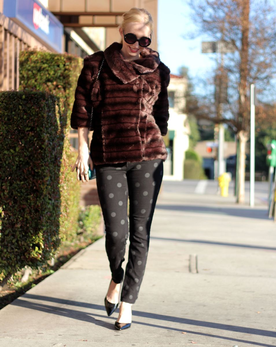 faux fur pullover, kate spade fur pullover, currently crushing