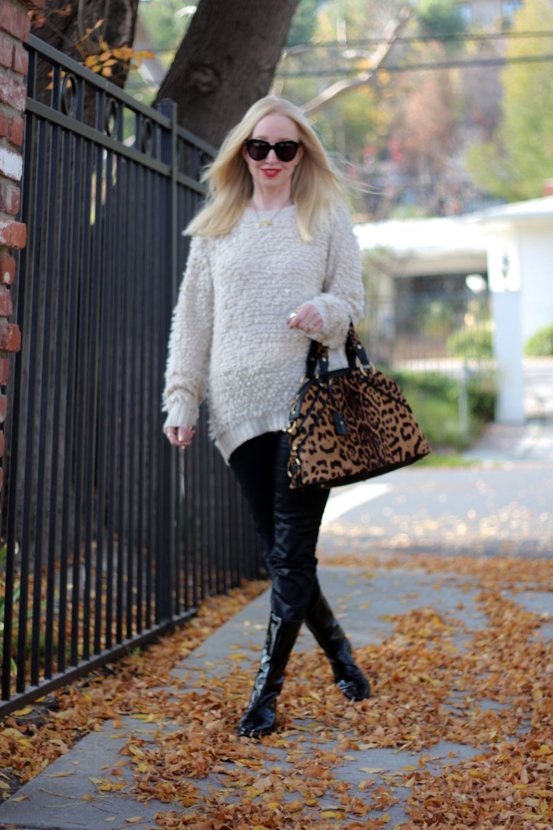 boohoo sweater, ysl muse bag leopard, karen walker number one, currently crushing