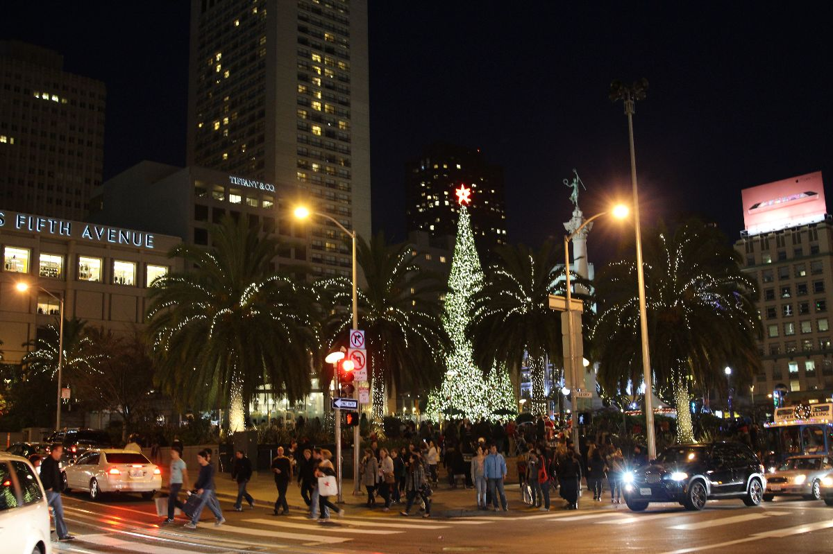 Union Square, Christmas, San Francisco, Currently Crushing