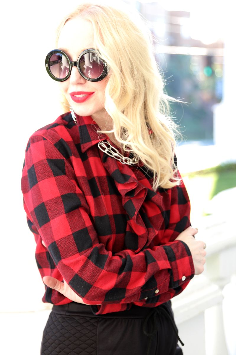 currently crushing, boohoo quilted jogger, ralph lauren buffalo plaid