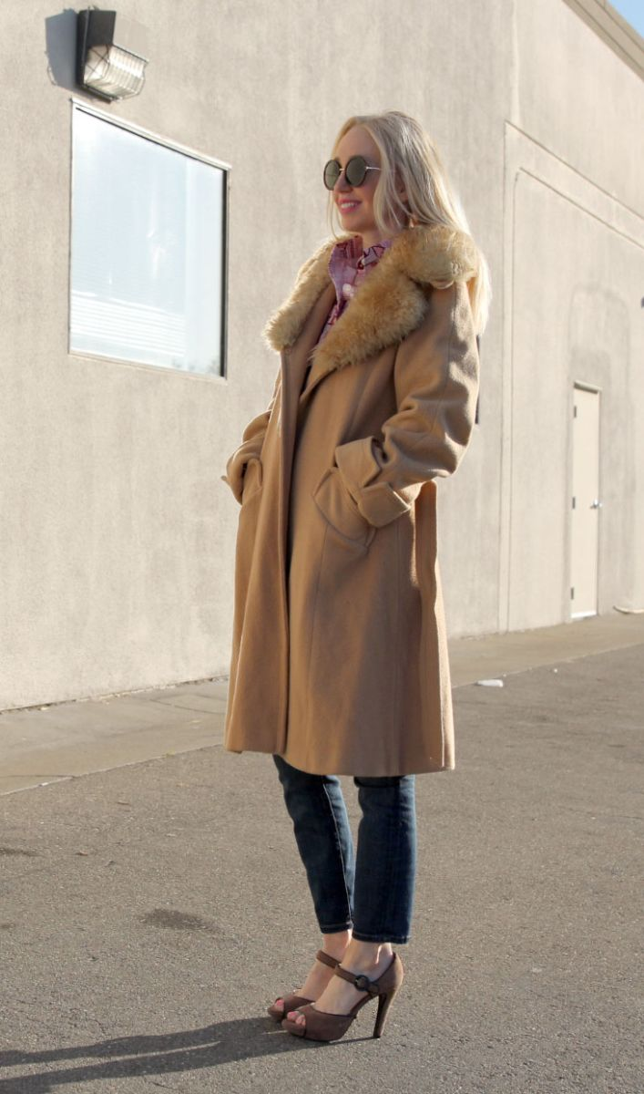 currently crushing, vintage camel coat