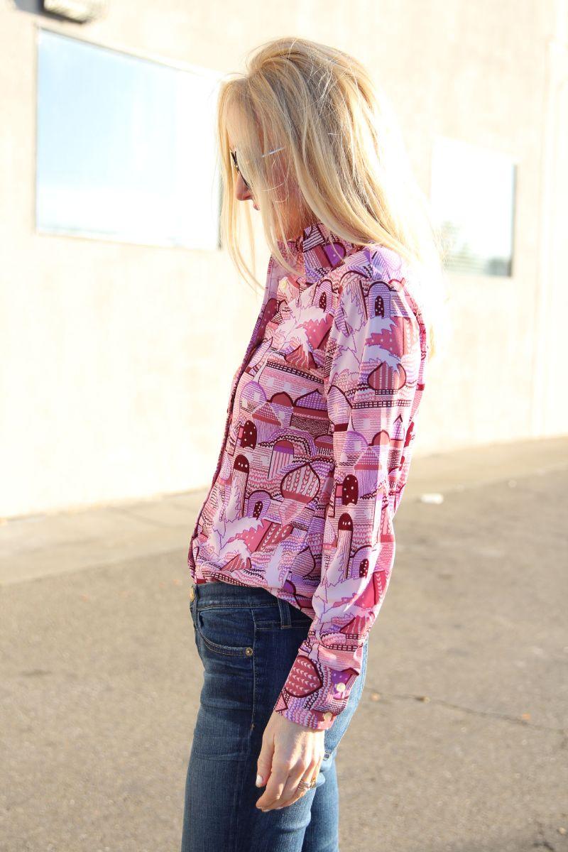 currently crushing, vintage 70's elles belles taj mahal shirt