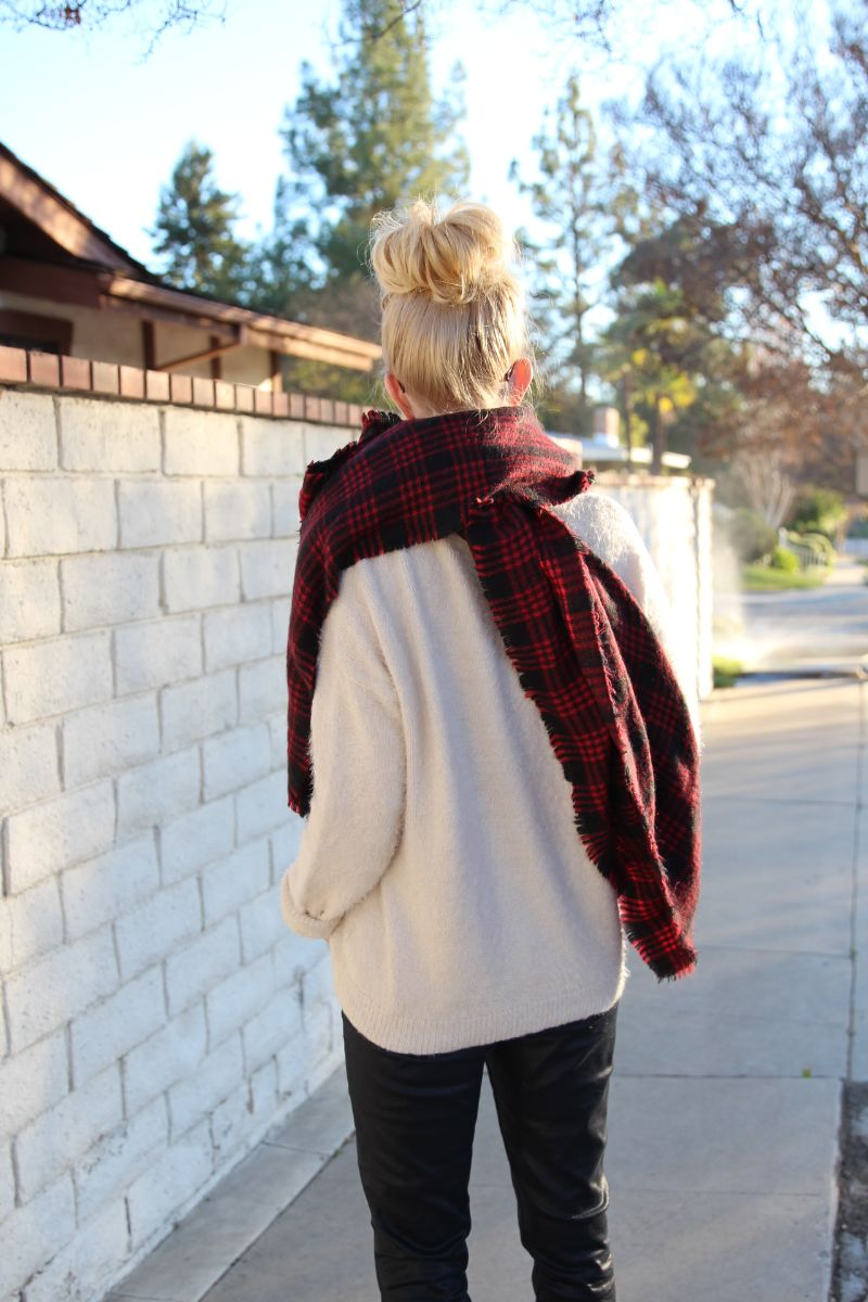 currently crushing, zara plaid blanket scarf