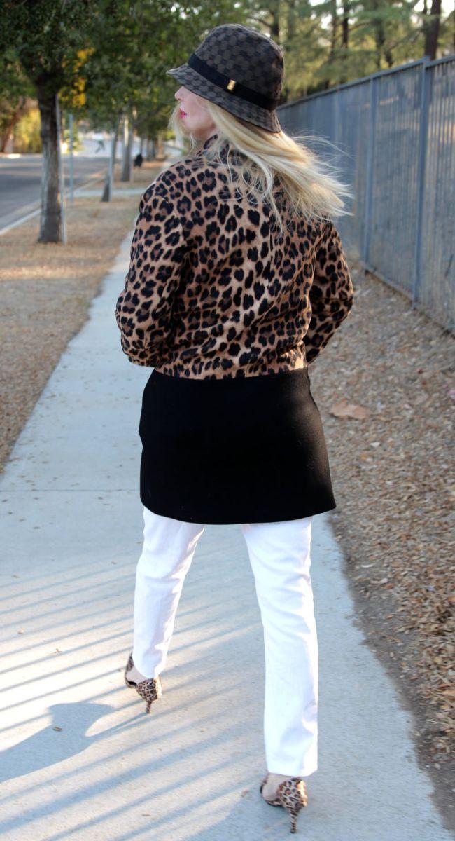 currently crushing, zara leopard coat, gucci fedora