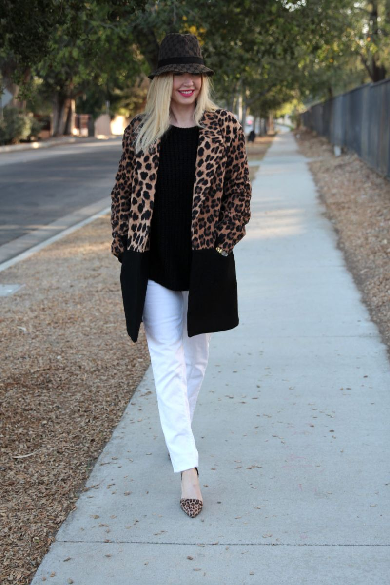 currently crushing, zara leopard coat, gucci fedora