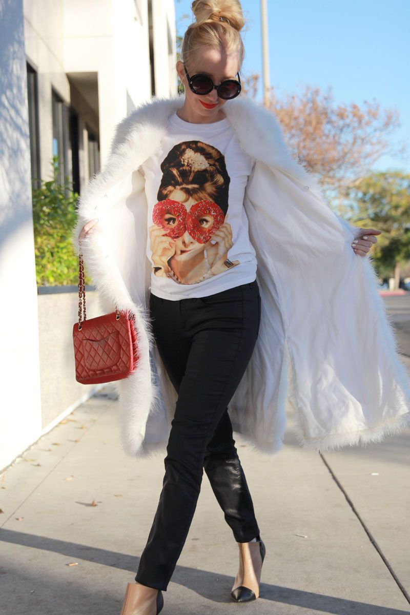 Currently Crushing, shoemint jane booties, sweet audrey tee, audrey hepburn donut tee