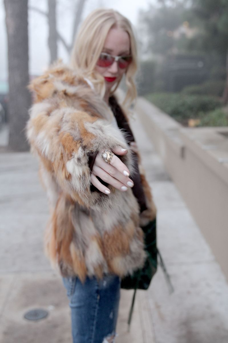 Currently Crushing, vintage patchwork fur