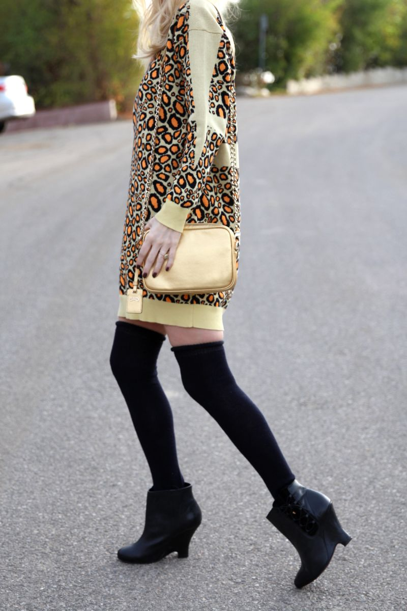 currently crushing, rovimoss little misc gold bag, kenzo yellow leopard sweater dress