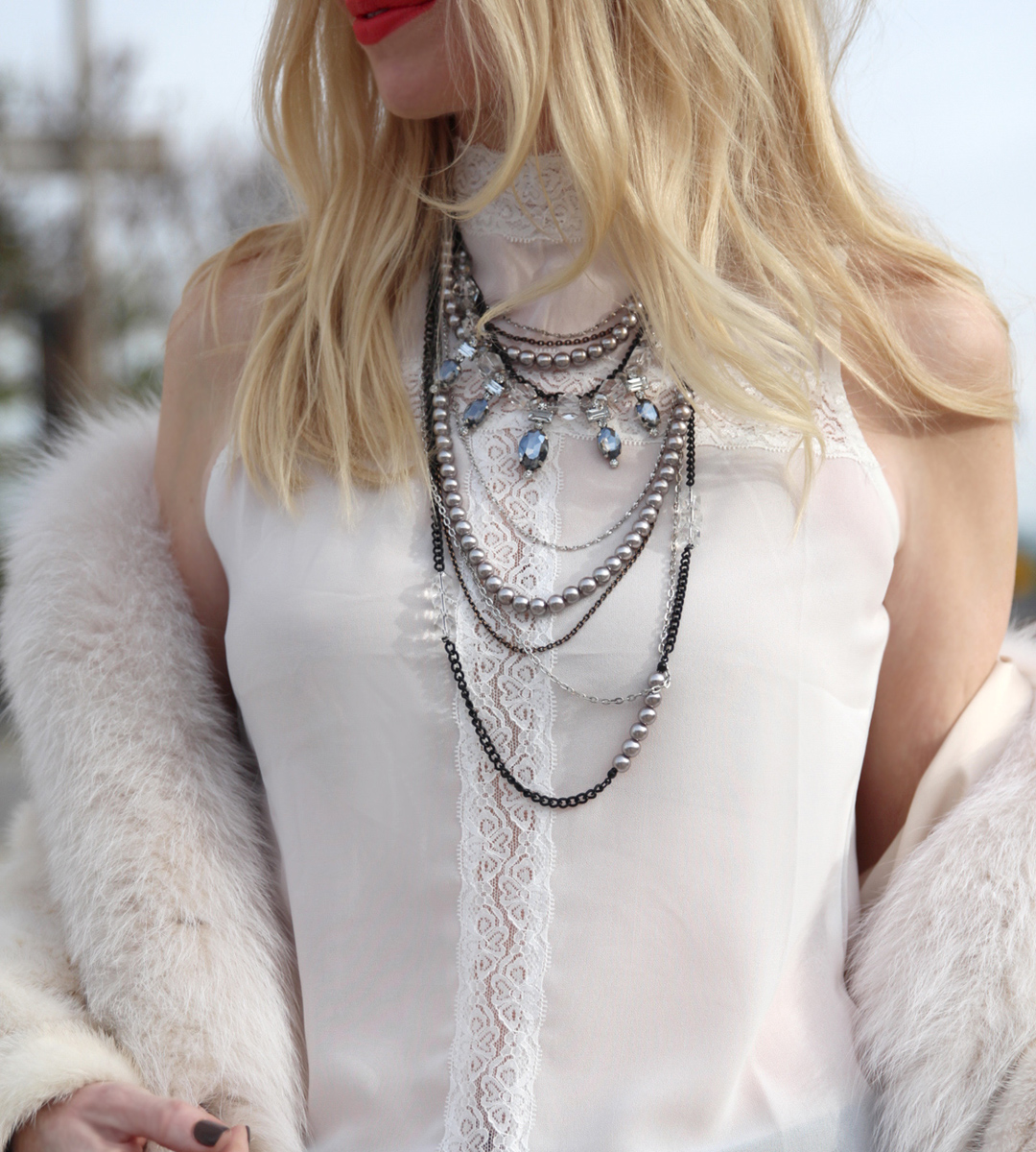 currently crushing, boohoo katherine lace blouse, capwell co necklace