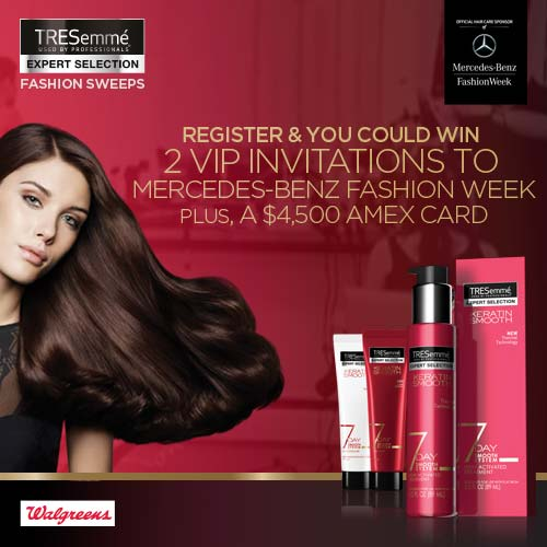 currently crushing, walgreens tresemme nyfw contest