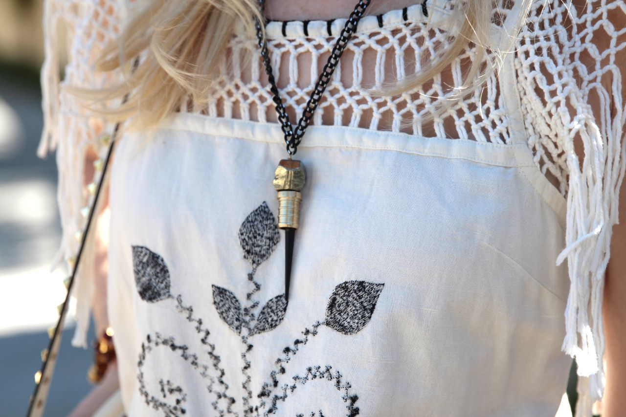 curently crushing, king onye label braveheart necklace, free people coachella dress
