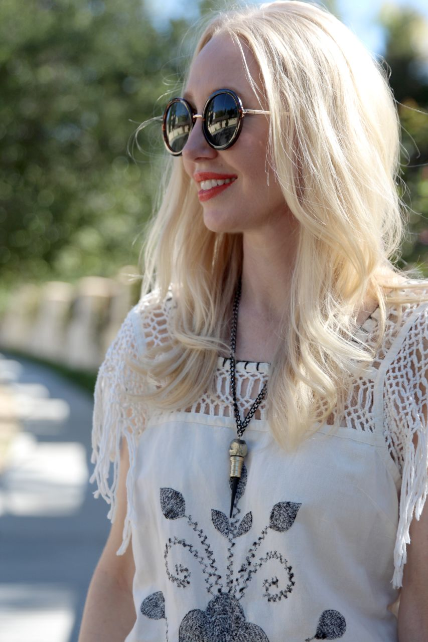 currently crushing, free people coachella dress, king onye braveheart necklace, sunglass warehouse