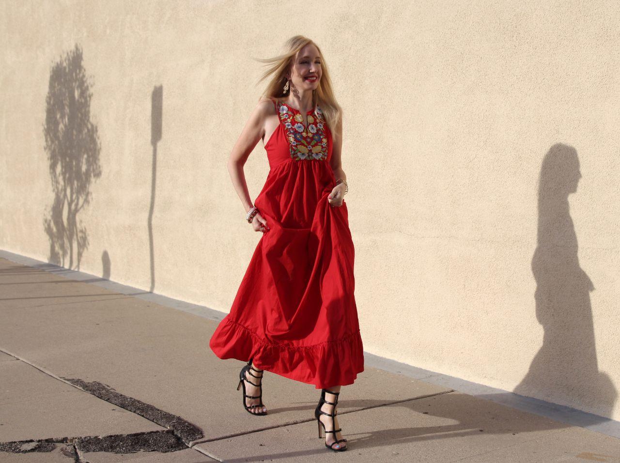 currently crushing, eshakti red dress, bcbgeneration manci heels, pamela love star cuff bracelet