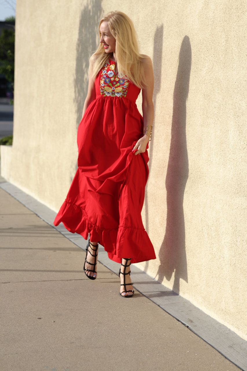 currently crushing, eshakti red dress, bcbgeneration manci heels