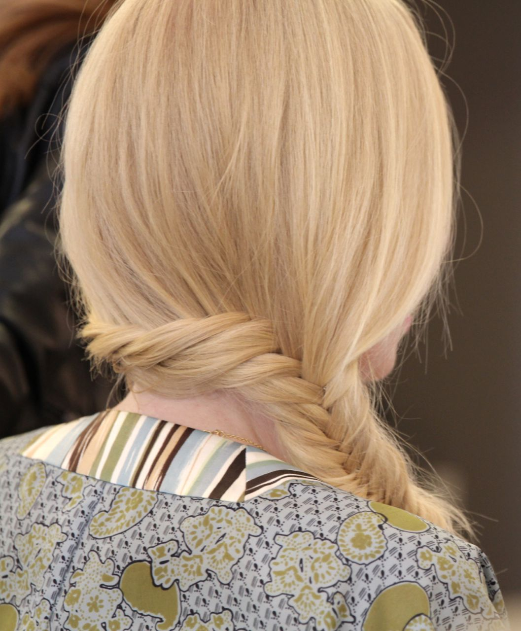 currently crushing, fishtail braid blonde hair, assembly salon