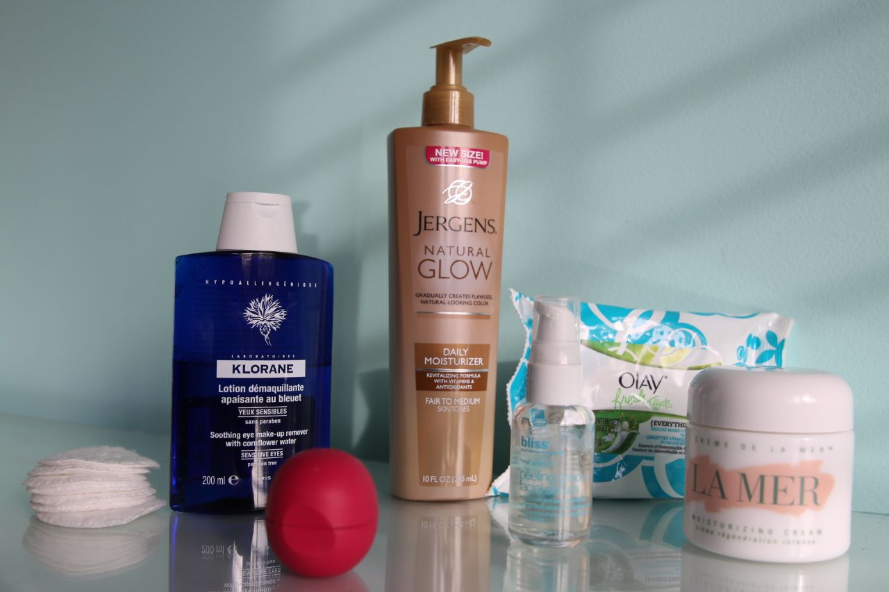 currently crushing, jergens daily glow, eos, klorane, fresh effects, bliss peeling groovy