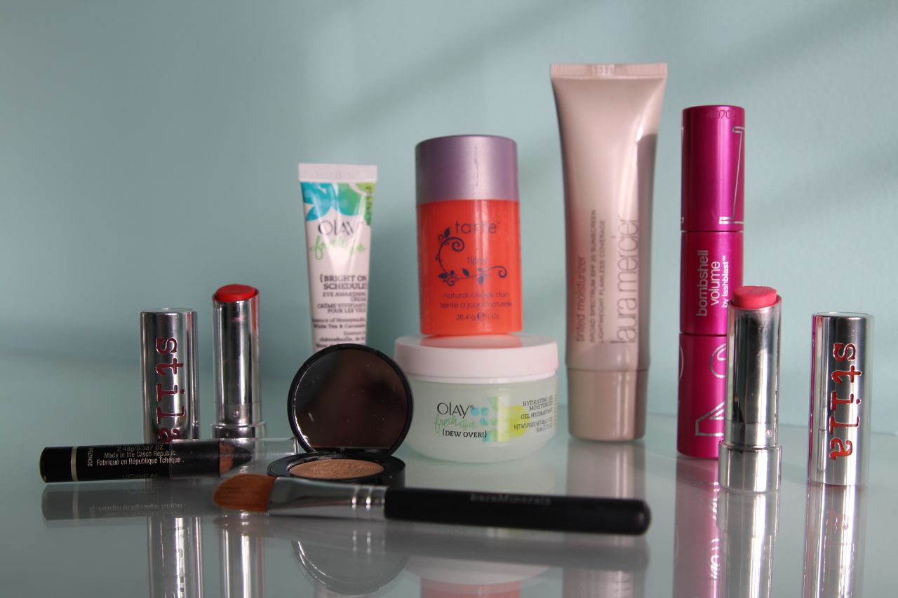 currently crushing, tarte, stila, olay, bare minerals, covergirl,