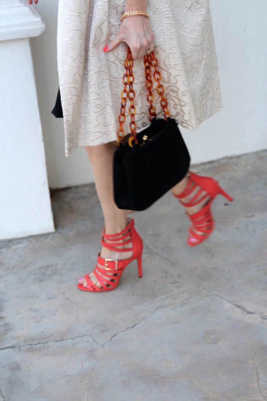 currently crushing, sole society mikaela hot coral caged heel
