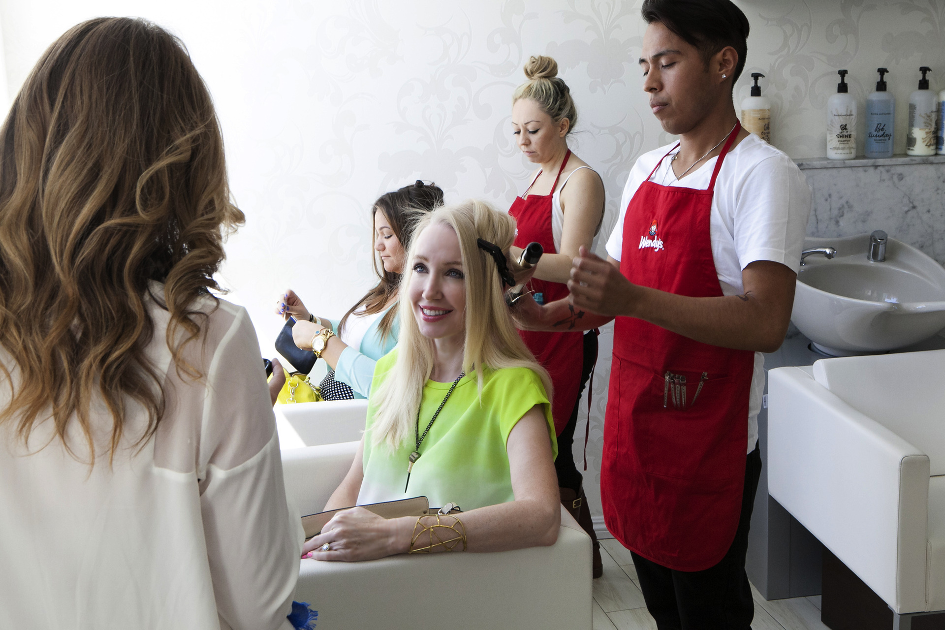currently crushing, blow me away dry bar, wendy's pre luckyfabb styling event