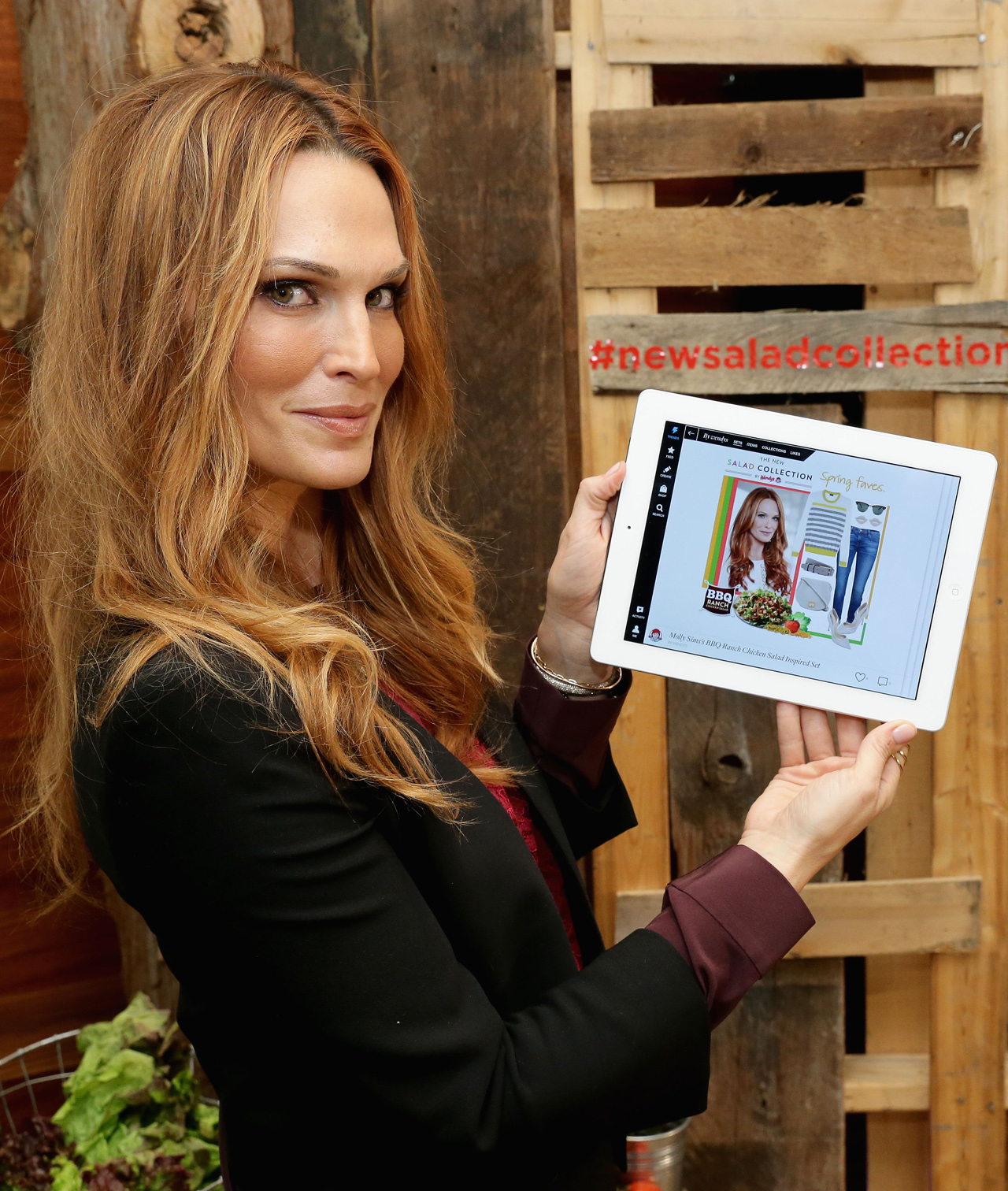 currently crushing, molly sims, wendy's new salad collection  polyvore collection