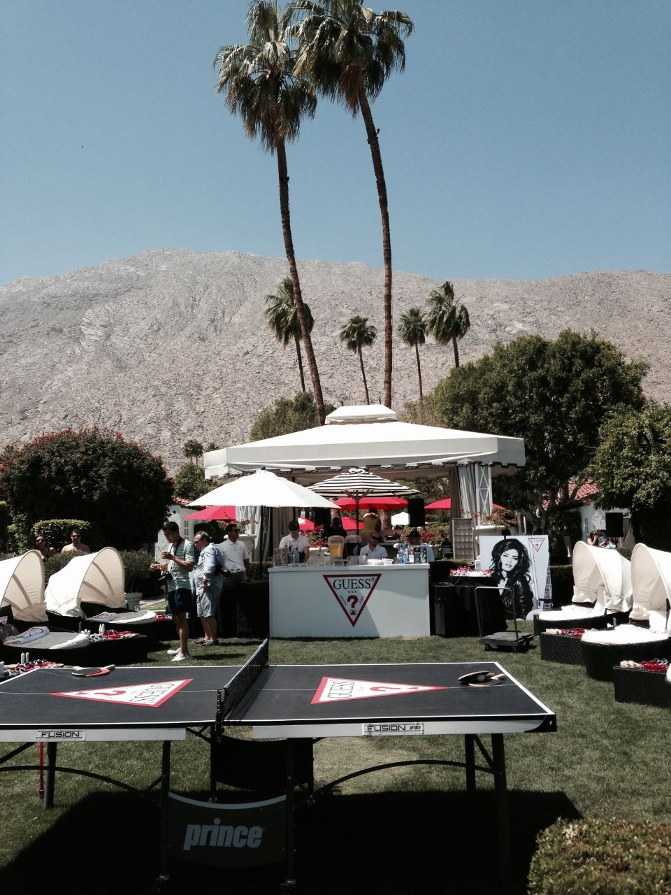 guess coachella party viceroy hotel, currently crushing