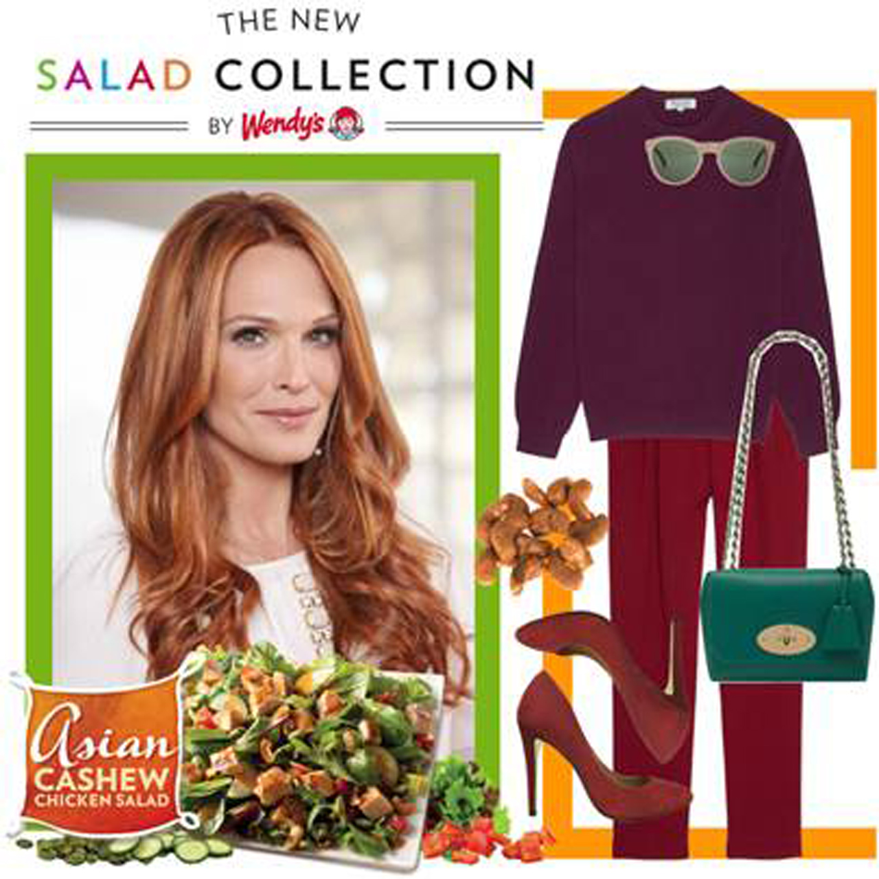 Wendy's new salad collection polyvore contest