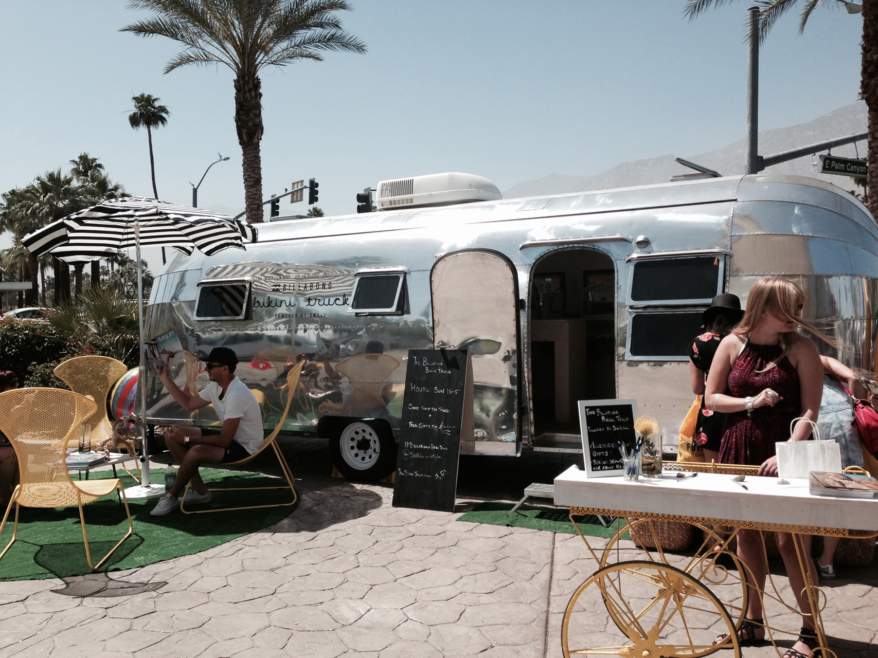 billabong bikini truck, coachella, saguaro, currently crushing