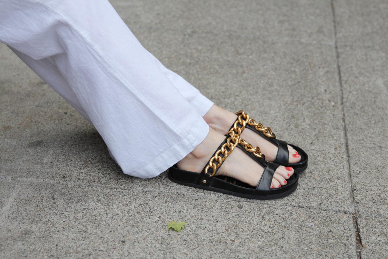 currently crushing, sam edelman chunky chain sandals