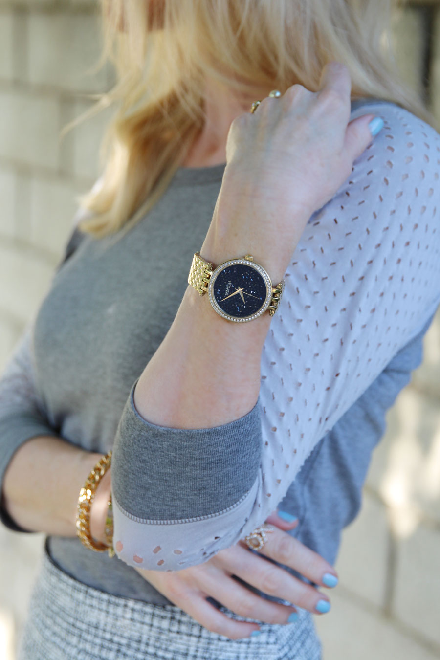 currently crushing, pima doll raglan tee, caravelle new york watch