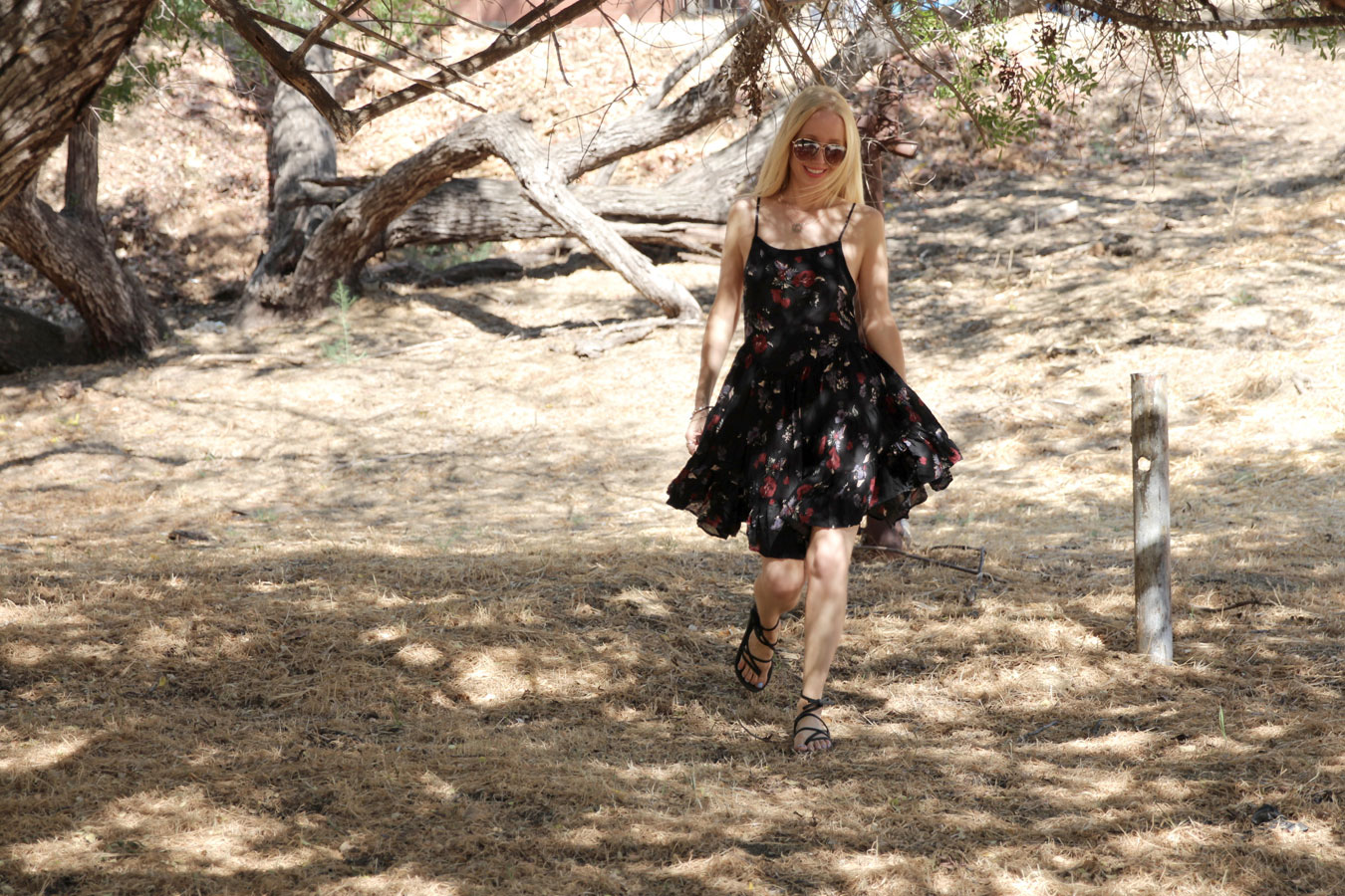 currently crushing, sseko ribbon sandals, free people dress