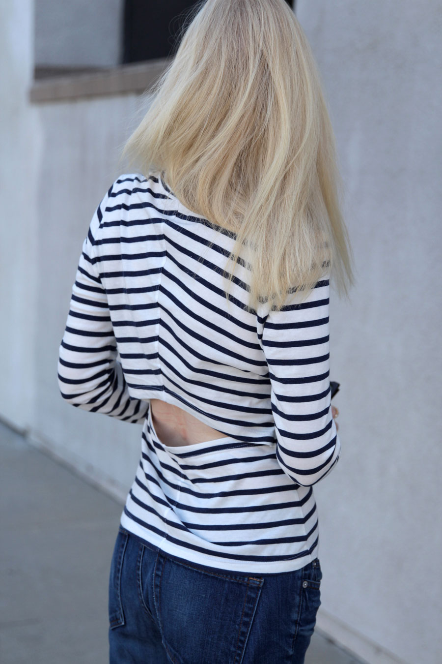 currently crushing, j crew matchstick denim, intermix striped tee