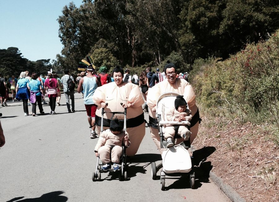 currently crushing sumo wrestling family at bay to breakers