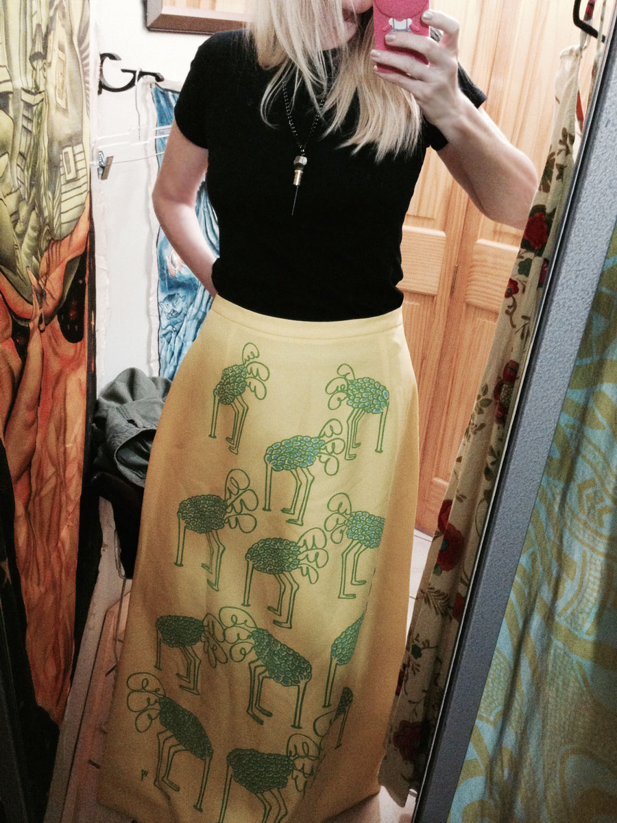 currently crushing, nelson bc, vintage skirt
