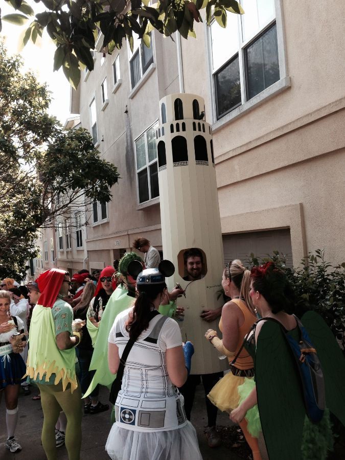 currently crushing coit tower costume bay to breakers